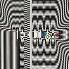 Image result for mexico city olympics 1968 graphics