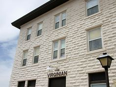 The Virginian Hotel in Medicine Bow, Wyoming is supposed to be a haunted-hotel!  Definitely lots of history!
