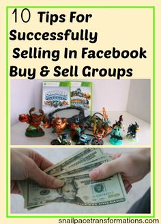 Selling on Facebook is a great way to make cash off items you no longer use. I have seen returns as high at $100 for just a few minutes work.