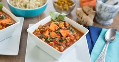Yam Chickpea Spinach Curry #recipe