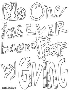 poorgiving - Idear from Christina: Print this on colored or patten cardbord/paper, and fame it, will look on a wall.