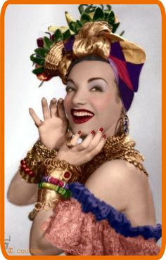"Carmen Miranda ""Look at me and tell me I don't have Brazil in every curve of my body. Carmen Miranda, Divas, Havana Nights, Famous Women, Famous People, Vintage Hollywood, Classic Hollywood, 1940s Fashion, Fashion Images"