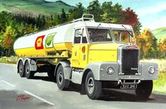 The showcase site for the creative work of WD, GS, and DP Cooper Vintage Trucks, Old Trucks, Classic Trucks, Classic Cars, Transport Pictures, Shell Gas Station, Fuel Truck, Old Lorries, Road Transport