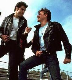 John Travolta & Jeff Conaway (Danny Zouko & Kenickie from 'Grease') Grease 1978, Grease Movie, Grease 2016, Logan Lerman, Shia Labeouf, Amanda Seyfried, Kenickie Grease, Preston, Greaser Guys