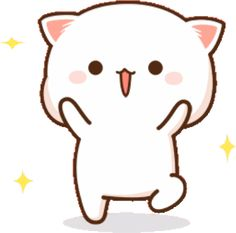 Cute Anime Cat, Cat Hug, Chibi Cat, Cute Cartoon Pictures, Little Panda, Funny Arabic Quotes, Cute Doodles, Cool Stickers, Anime Scenery
