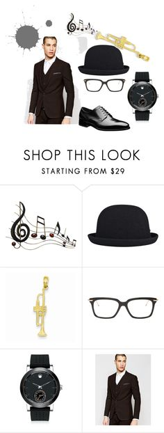 """""""look 3"""" by nishadnancy on Polyvore featuring Benzara, kangol, Thom Browne, Movado, ASOS, men's fashion and menswear"""
