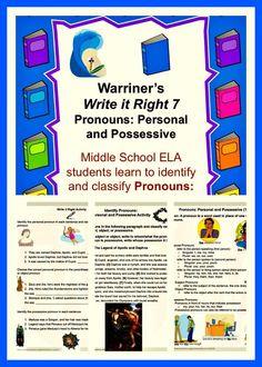 Excellent Middle School ELA Curriculum warrinersclassroom.com Click my TpT Store Tab! https://www.teacherspayteachers.com/Store/Warriners-English-And-Composition-Classroom