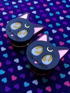 Sailor Moon Luna Plugs- 24mm-34mm