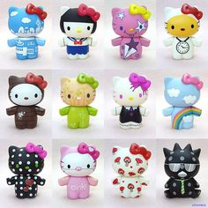 Urban Outfitters x Hello Kitty Blindbox Vinyl Figures Series 2 - Love them. So cute. Sanrio Hello Kitty, Hello Kitty Imagenes, Wonderful Day, Robots For Kids, Miss Kitty, Hello Kitty Collection, Snoopy, Biscuit, Sanrio Characters