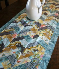 Creative Bari J. has a self imposed a 14 day challenge using LillyBelle. This completed braided table runner included Aurifil too! We look forward to more of the beautiful results!  barij.typepad.com...