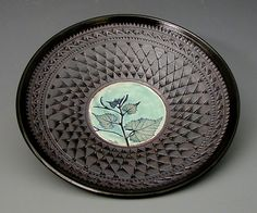 Small Persian Bowl in Green by Suzanne Crane: Ceramic Bowl available at www.artfulhome.com
