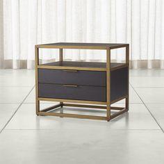 Oxford Black Nightstand-Crate and Barrel Black Nightstand, 2 Drawer Nightstand, Dresser Drawers, Tall Dresser, Custom Furniture, Bedroom Furniture, Home Furniture, Furniture Movers, Luxury Furniture