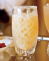 Puente Punch - think orange julius, with a little punch :-)  lime, sugar sugar, orange juice, sweetened condensed milk, amber rum