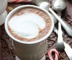 Skinny Vanilla-Peppermint Mocha Lattes {And a Chocolate Giveaway!}