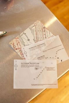invitation map- so cool! (not necessary for me, but still like the idea)