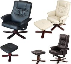 DELUXE SUPREME PREMIUM PU FAUX LEATHER EXECUTIVE RECLINER ARM CHAIR WITH FOOT REST FOOT STOOL AND 360° SWIVEL