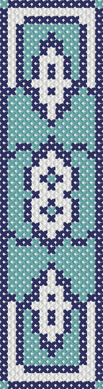 Turkish design blue bookmark counted cross stitch digital PDF pattern by CraftwithCartwright, £2.50