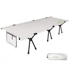 Rio Gear Smart Cot Extra Long Outdoor No End Bar Portable Camping Cot