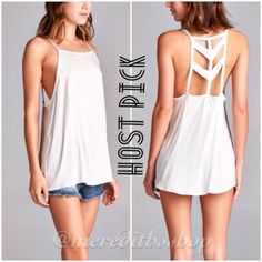 NWT Boho Caged Top NWT Retail- Beautiful loose fitting top with cut out back boho design that's perfect for Spring and Summer.   Available Sizes: Small, Medium, Large Color: White Fit: Loose Design: Cut Out Caged Back Fabric: 97% cotton 3% spandex  *NO Trades! April Spirit Tops Tunics