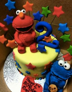 A younger child's birthday that loves Elmo.