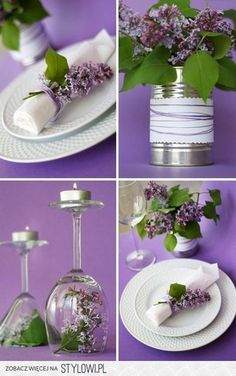 Ideas Wedding Flowers Decoration Table Napkins For 2019 Wedding Table Flowers, Wedding Table Decorations, Wedding Centerpieces, Glass Centerpieces, Table Wedding, Wedding Bouquets, Purple Wedding, Trendy Wedding, Diy Wedding