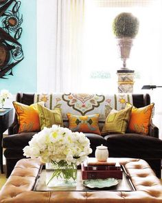 Adding a Throw makes a Big Difference in the Look of the Sofa...