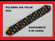 PULSERA SIN TELAR//HUICHOL - YouTube Beaded Bracelets Tutorial, Seed Bead Bracelets, Seed Beads, Loom Beading, Beading Patterns, O Design, Daisy Chain, Jewelry Crafts, Diy And Crafts