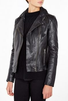 Race Leather Jacket By 2nd Day