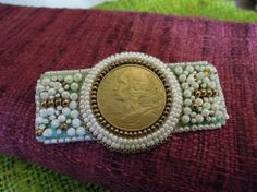 Brooch with French Coin by SharpTomato on Etsy, £10.00