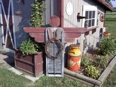 Love this garden angel made out of an old shutter!!!!