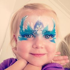 "My own little Ice Princess ""Frozen"" Elsa. Face Painting by Too Tweet designs. Inspired by Daizy Design"