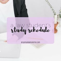 As a law student, I spend 7 hours every day either in class or reading for class... | brazenandbrunette.com