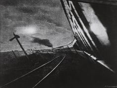 Hakuyo Fuchigami, Rushing Train, Manchuria, 1930