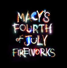 Macy's 4th of July typography by Craig Ward, via Behance