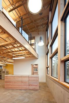 This Coates Design commercial building was built to LEED Gold standards and features open, well-lit spaces.