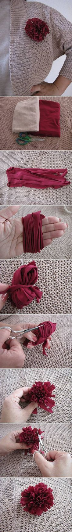 DIY Simple Fabric Brooch DIY Projects | UsefulDIY.com Follow Us on Facebook ==> http://www.facebook.com/UsefulDiy