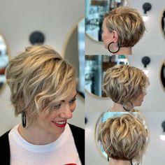 Ear-Length Wavy Pixie-Bob Bob Hairstyles For Thick, Cute Short Haircuts, Pixie Bob Hairstyles, Pixie Bob Haircut, Haircut Short, Layered Hairstyles, Wedding Hairstyles, Boho Hairstyles, Longer Bob Hairstyles