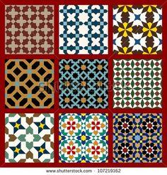Moorish Seamless Pattern Set One