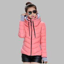 Snow wear wadded jacket female 2015 autumn winter jacket women slim short cotton-padded jacket outerwear winter coat women Q356(China (Mainland))