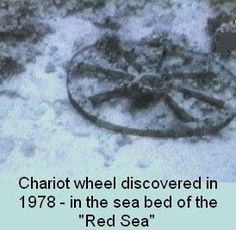 See the chariot wheels in the Red Sea!