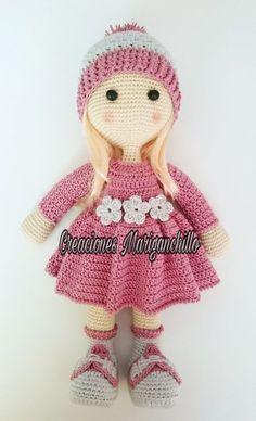 Make Your Art Easier: Amigurumi - Dolls Crochet Dolls Free Patterns, Crochet Doll Pattern, Amigurumi Patterns, Doll Patterns, Crochet Toys, Crochet Baby, Knit Crochet, Crochet Animals, Baby Kind