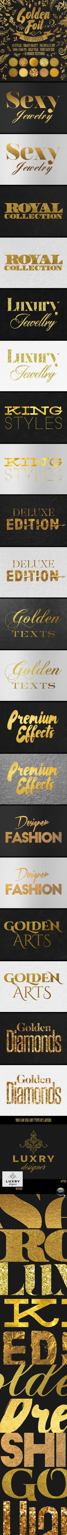 Gold Text Effects for Photoshop. Download here: http://graphicriver.net/item/gold-text-effects/14344277?ref=ksioks