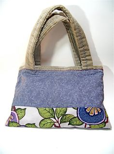 Small tote bag Purple Japanese cotton fabric grey by TUKON on Etsy, $32.00