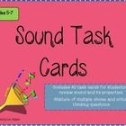 40 task cards that help 5-7 grade students review properties of sound