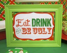 Fun sign at an Ugly Sweater party! See more party ideas at CatchMyParty.com! #partyideas #uglysweater