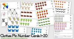 Educational Freebie: Clothes Pin Number Cards