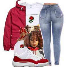 A fashion look from December 2017 by littydee featuring Armitage Avenue Baddie Outfits Casual, Cute Swag Outfits, Cute Outfits For School, Chill Outfits, Casual Fall Outfits, Summer Outfits, School Wear, Trendy Outfits, Teen Girl Outfits