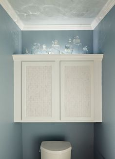 Love The Idea Of Putting A Cabinet Above Toilet Great Way To Use Unutilized E Since I Have This My Anyway