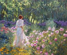 Encanto femenino en las pinturas de Richard S. Johnson - LeugimfigueroaBlog