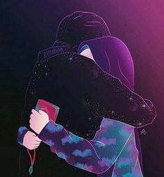 kumpulan kartun romantis parf 2 - my ely Love Cartoon Couple, Cute Couple Art, Cute Love Cartoons, Anime Love Couple, Love Wallpaper, Cartoon Wallpaper, Photo Islam, Hijab Drawing, Cute Muslim Couples